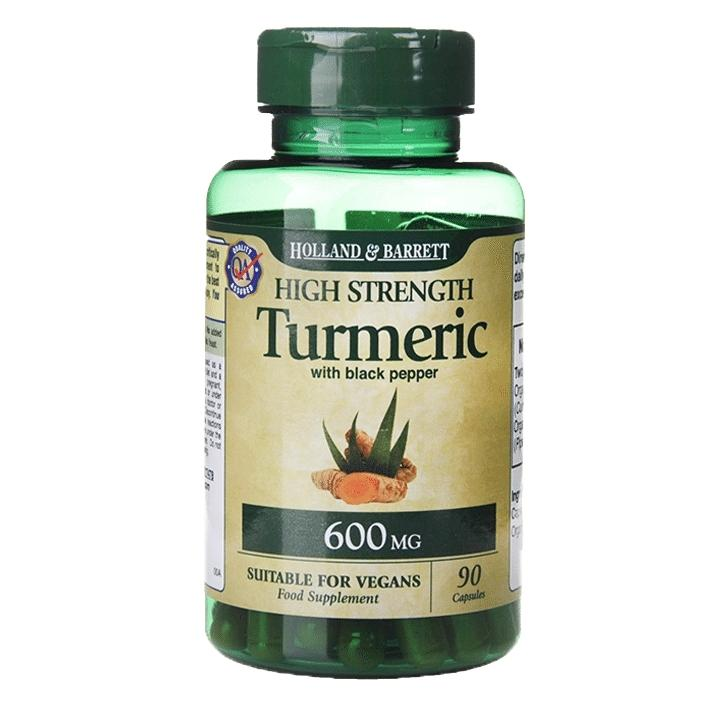 Holland & Barrett Organic High Strength Turmeric with Black Pepper 90 Capsules 600mg